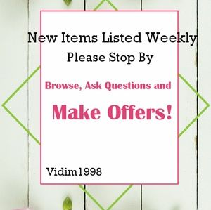 New Items Listed Weekly